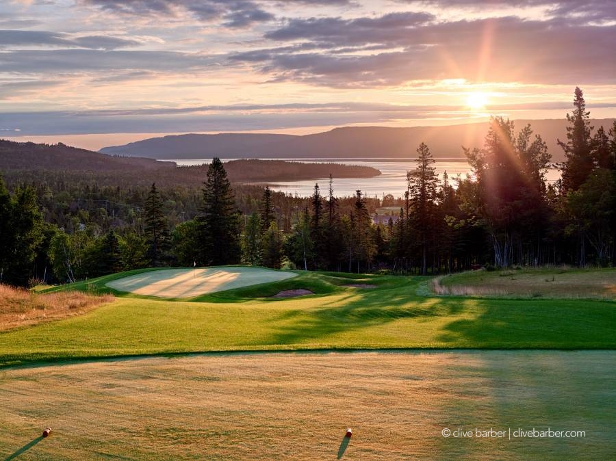 2nd hole at sunrise, Humber Valley Resort - Humber Valley NFL Canada