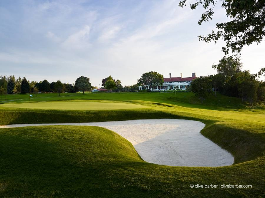 18th hole and clubhouse, Scarboro Golf & Country Club - Toronto ON Canada