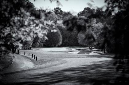 Hole No. 3 through trees - Glen Cedars Golf Club - Claremont ON Canada
