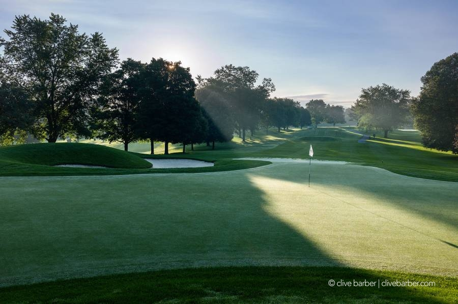 Behind Hole No. 17 at sunrise, London Hunt and Country Club - London ON, Canada