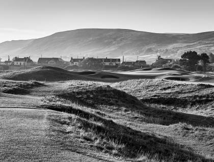 6th hole (Witch) from tees in the evening, Brora Golf Club - Sutherland, Scotland