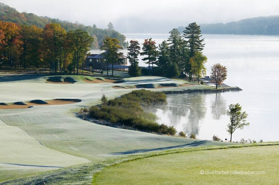 18th hole at sunrise,  Bigwin Island Golf Club - Baysville ON Canada