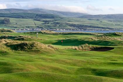 13th fairway and green, Machrihanish Dunes - Argyll Scotland