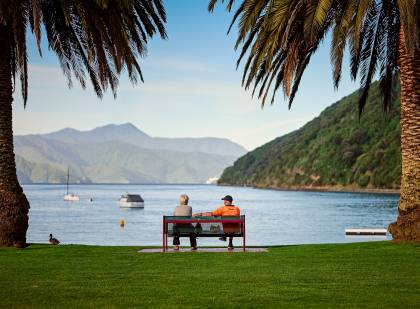 Relaxing evening - Picton, New Zealand