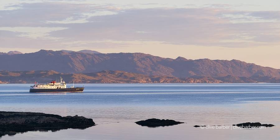 MV Hebridean Princess sailing in the Sound of Sleat